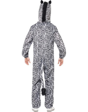 Zebra costume for an adult