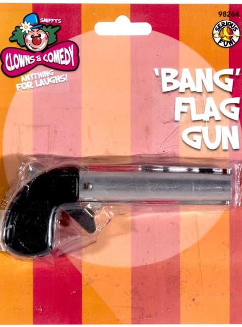 Pistola bang bang de brincadeira