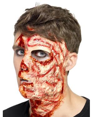 Verbranntes Gesicht Prothese aus Latex