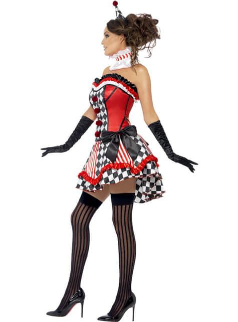 Disfraz de arlequín Fever para mujer - traje