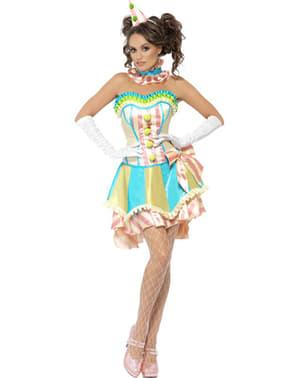 Дамски ретро костюм на клоун, Fever