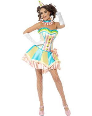 Costum de clovn vintage Fever pentru femeie