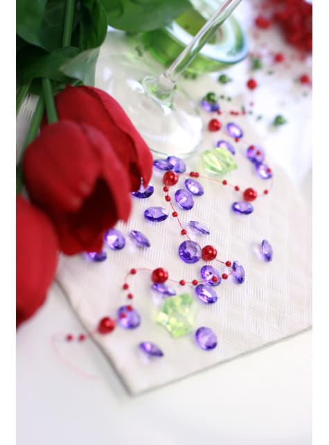100 diamantes decorativos violeta para mesa de 12 mm