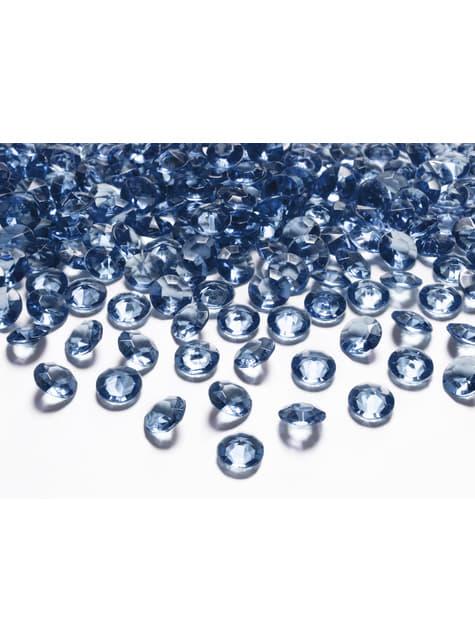 Balení 100 tmavomodrých dekorativních krystalů,  12mm