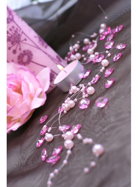 100 diamantes decorativos rosa para mesa de 12 mm