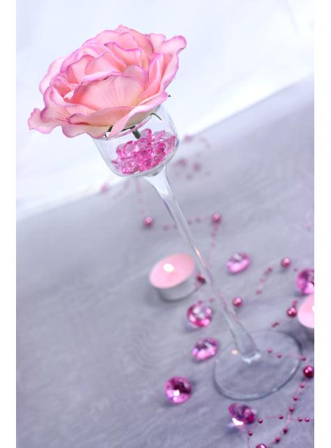 100 diamants décoratifs rose clair pour la table de 12 mm
