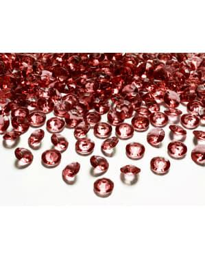 100 burgundinväristä pöytäkristallia 12mm