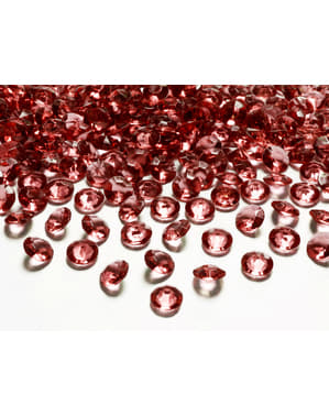 Pack of 100 Burgundy Table Crystals, 12 mm