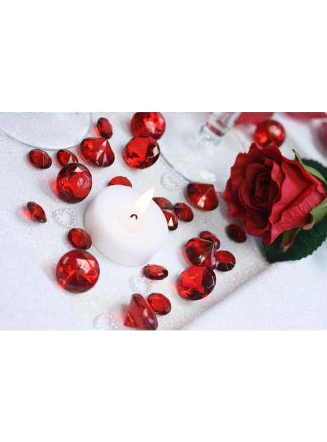 100 diamants décoratifs grenat pour la table de 12 mm