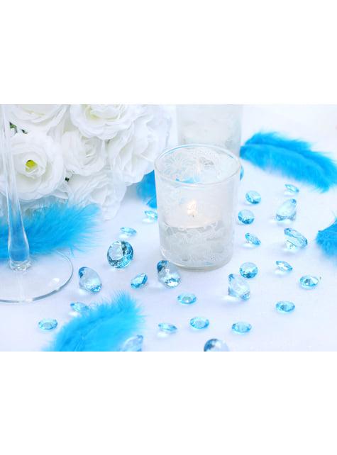 100 diamantes decorativos azul turquesa para mesa de 12 mm - comprar