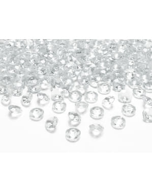 Diamanten Tischdeko Set 100-teilig transparent 12mm