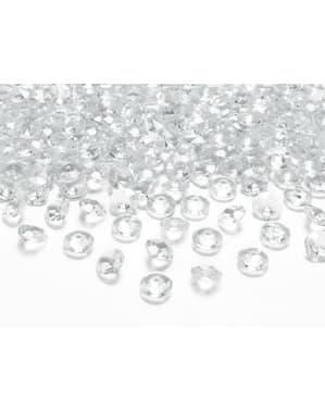100 diamanti decorativi trasparenti per tavolo di 12 mm