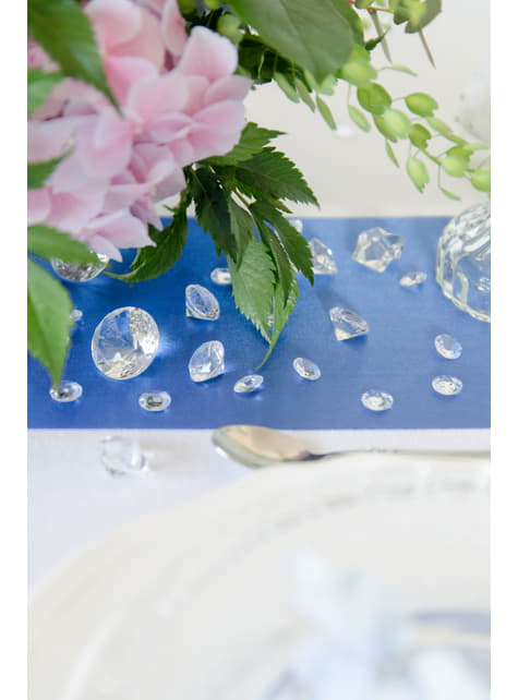 100 diamantes decorativos transparente para mesa de 12 mm - para tus fiestas