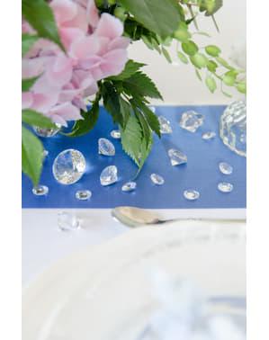 100 diamantes decorativos transparentes para mesa de 12 mm