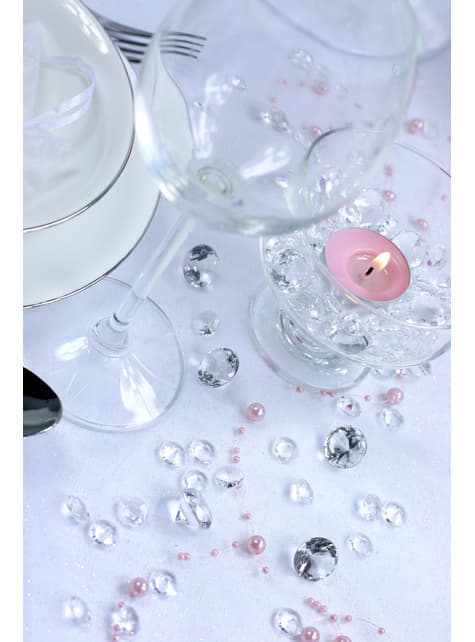 100 diamants décoratifs transparent pour la table de 12 mm