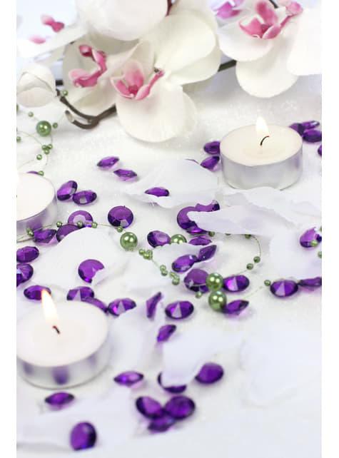 100 diamantes decorativos morado para mesa de 12 mm - barato