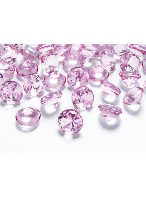 10 diamants décoratifs rose clair pour la table de 20 mm