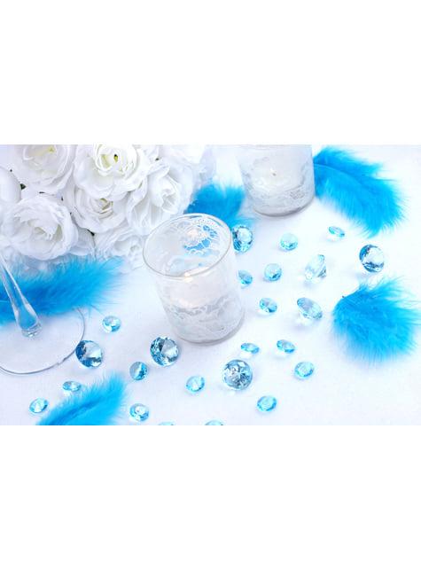 10 diamants décoratifs bleu turquoise pour la table de 20 mm