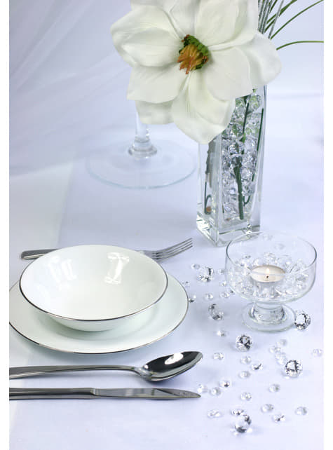 10 diamants décoratifs transparent pour la table de 20 mm