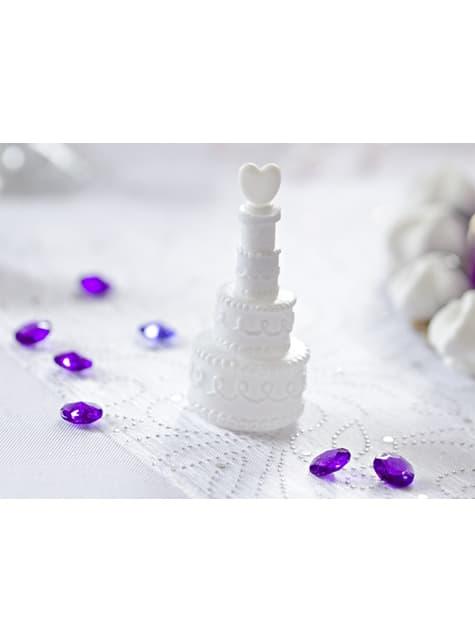 4 Wedding Cake Bubble Bottles