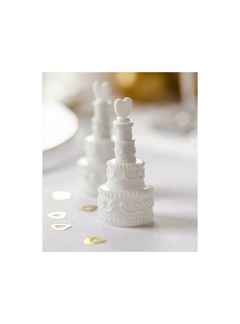 4 flacons à bulless en forme de gâteau