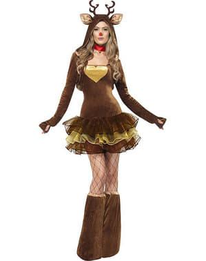 Costume da Renna Rudolph Fever per donna