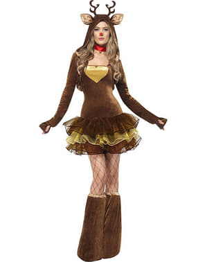 Fever Rudolf costume for a woman
