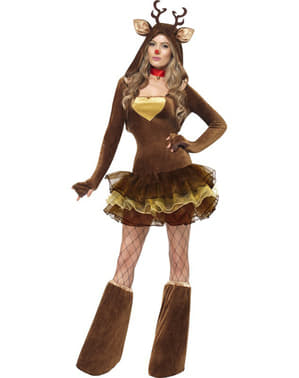 Fever - Rodulf kostume til kvinde