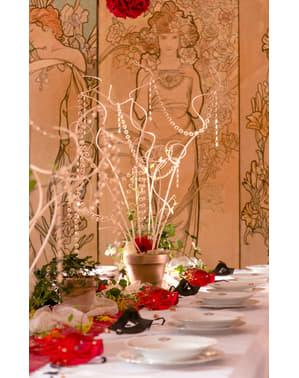 Girlang dekorativ med glas guldfärgad 1 m och 18 mm i diameter