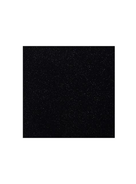 11 serviettes noires brillantes en papier