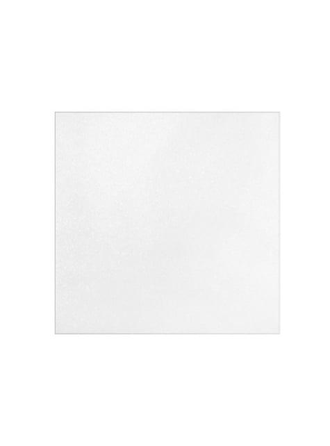 10 servilletas blancas brillantes de papel (40x40 cm)