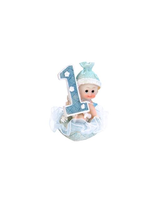 1ste verjaardag jongen taart figuur - Kleine Figuurtjes