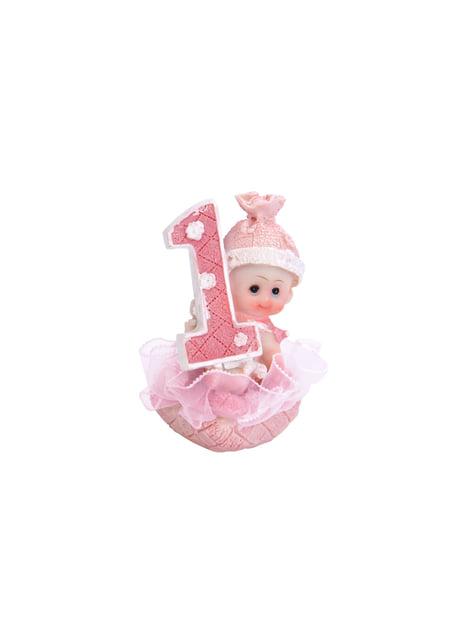 1ste verjaardag meisje taart figuur - Kleine Figuurtje