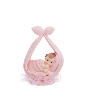 Pupazzetto per torta fiocco bambina - Little Figurines