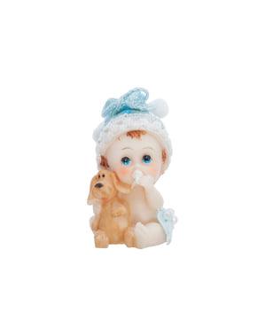 Pasta figürü çocukla köpek yavrusu - Küçük Figurines