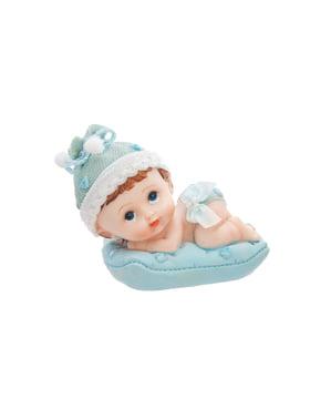 Bir yastık kek şekil çocuk - Küçük Figurines