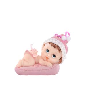 Pasta figürü kız yastıkta - Küçük Figurines