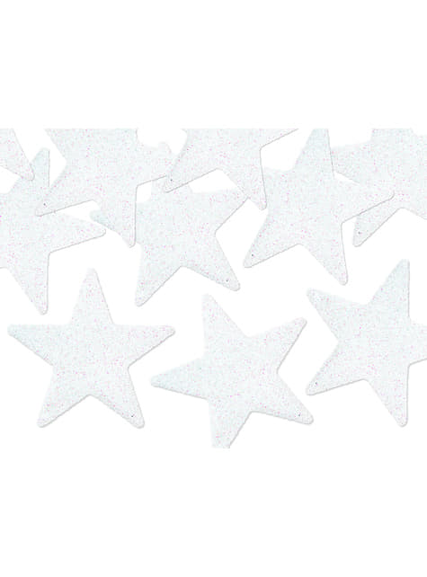8 estrellas para decoración de mesa blancas