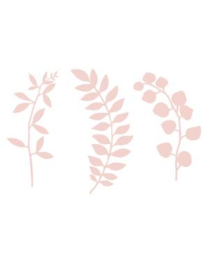 9 bloemen tafel decoraties, pastel roze - Naturel Bruiloft