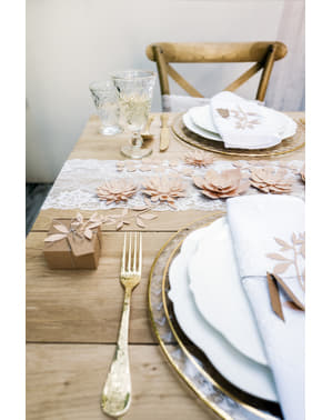 Blumen Tisch Deko Set 9-teilig pastellrosa - Natural Wedding