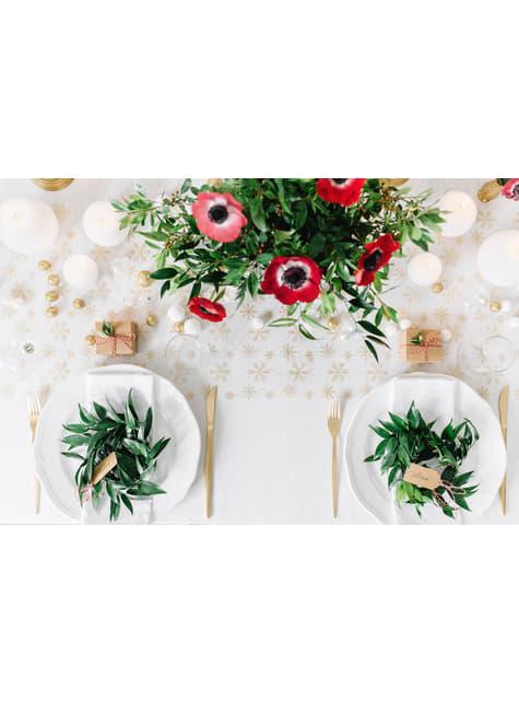 25 ozdobných koulí na stůl bílých