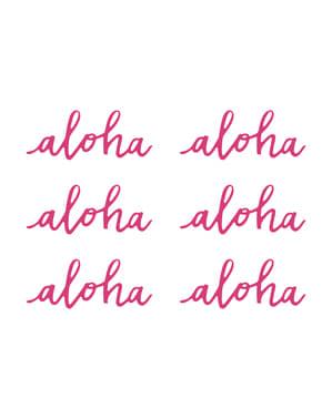 """6 """"アロハ""""テーブルデコレーション - アロハコレクションのセット"""