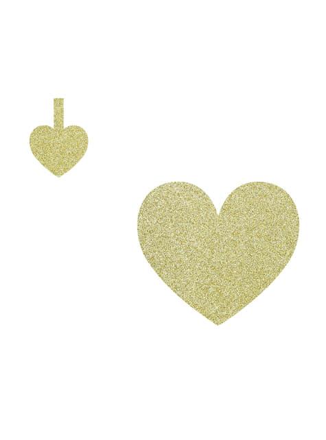8 elementos decorativos dorados para mesa - Sweet Love - para tus fiestas