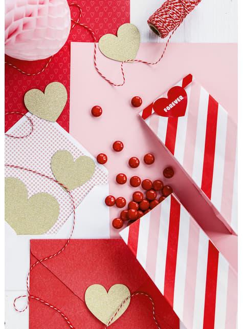 8 elementos decorativos dorados para mesa - Sweet Love - barato