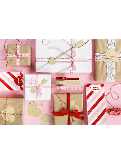 8 elementos decorativos dorados para mesa - Sweet Love - comprar
