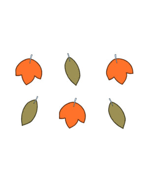 6 Assorted Paper Table Decorations - Woodland