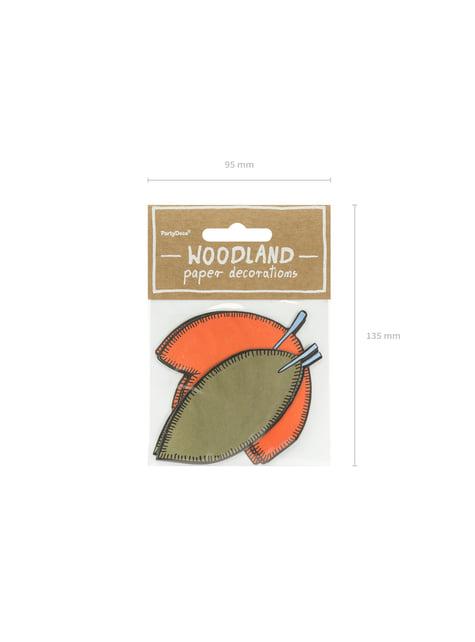 6 elementos decorativos variados para mesa - Woodland