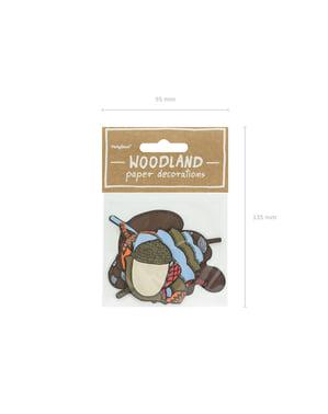 7 elementos decorativos variados para mesa - Woodland
