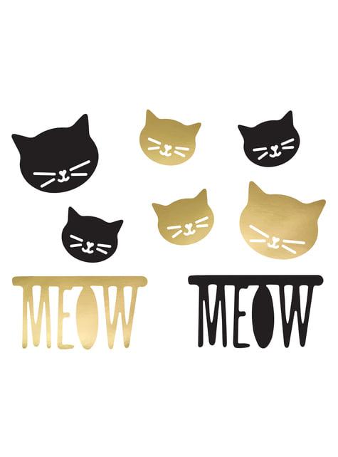 8 elementos decorativos variados para mesa - Meow Party