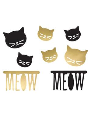 8 geassorteerde tafeldecoraties met kattenthema - Meow Party